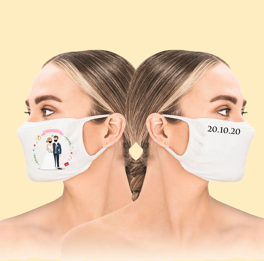 Mundschutz Mr und Mrs